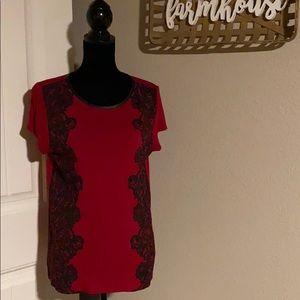 L Ann Taylor loft t shirt with lace detail
